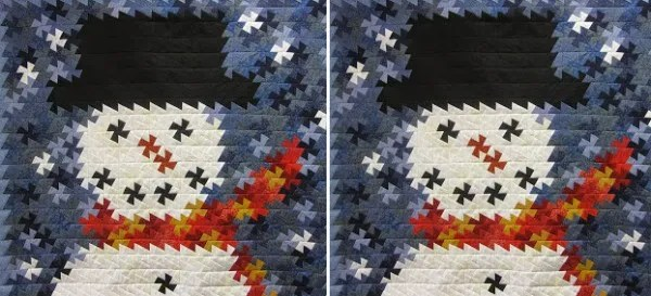 Twister Frosty Snowman Quilt Quilting