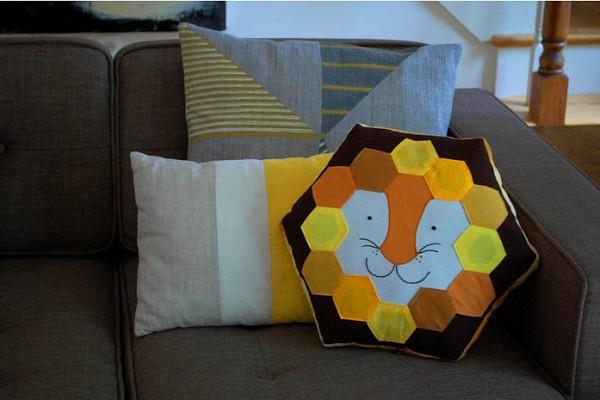 Lion Hexie Pillow Abby