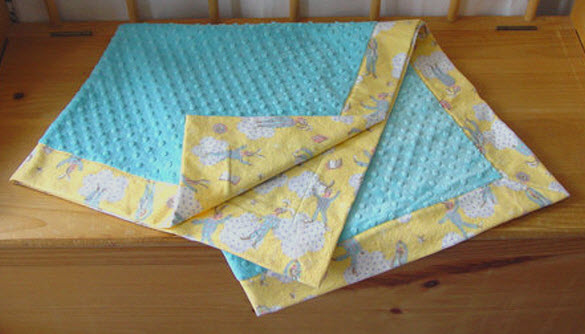 Mitered Receiving Blanket Annette Quilted Sunshine