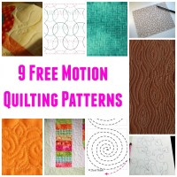 9 Free Motion Quilting Patterns