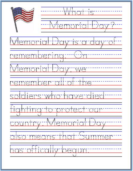 Memorial-Day-Handwriting-Practice-Sheet