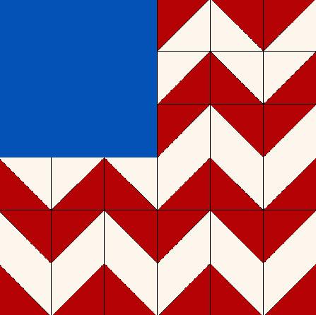 Wild Goose Flag quilt block
