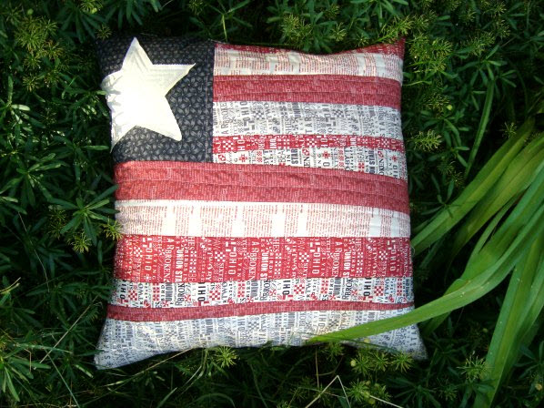 Flag Pillow Tutorial Quilt as you Go