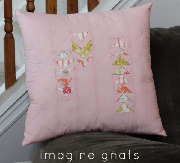 Quilted pillow cover tutorial w zipper enclosure