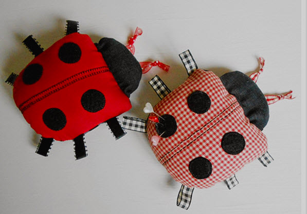 Lady bug pin cushions free pattern