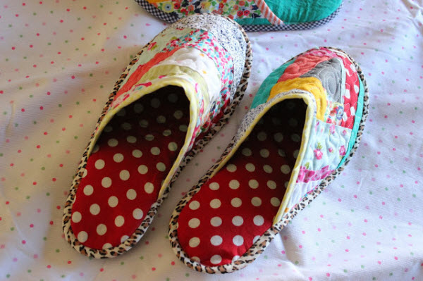 Tutorial Patchwork Slippers Lavida