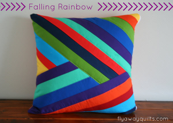 pillow cover Falling Rainbow