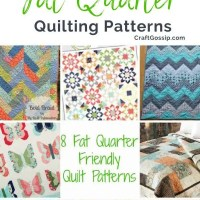 8 Fat Quarter Friendly Quilt Patterns