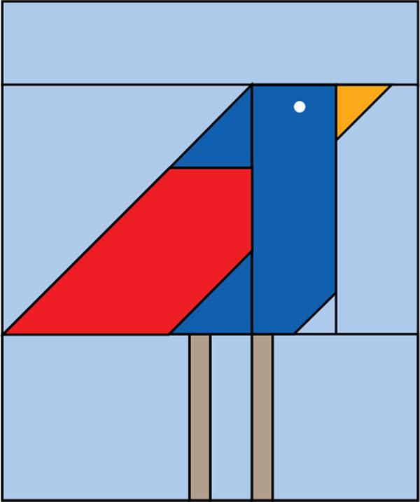 Free Pattern Bird Block Quilting