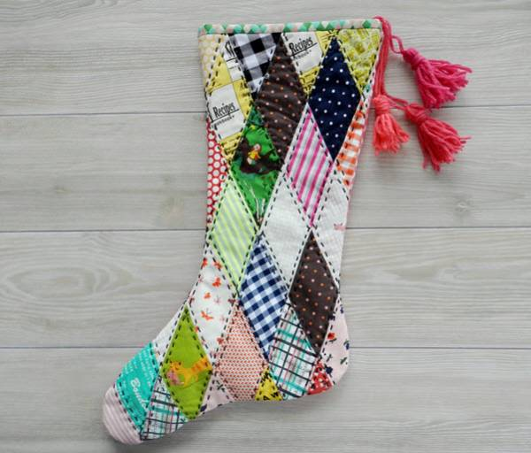 Diamond Patch Christmas Stocking