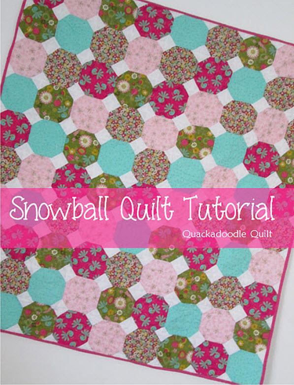 Snowball Quilt Block Tutorial