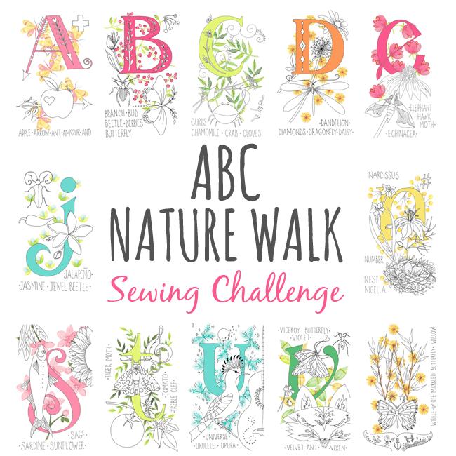 ABC Nature Walk Panel Sewing Challenge