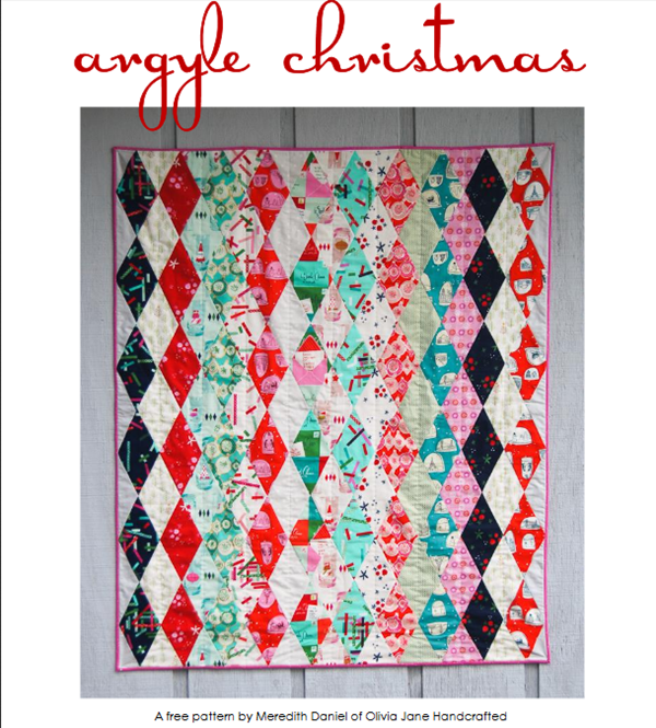 Free Pattern Argyle Christmas Quilt Quilting
