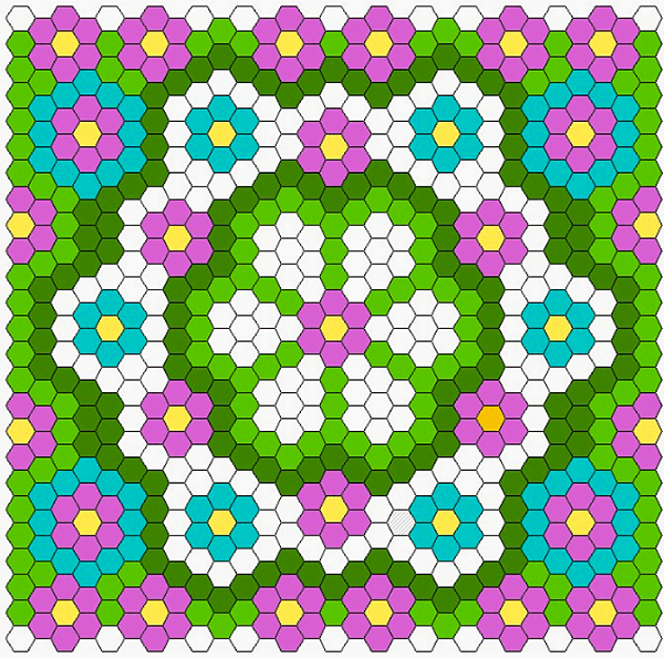 Hexagon Quilt Layout Diagram Twiddletails