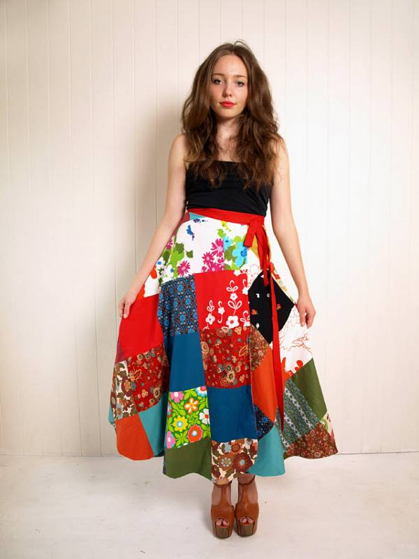 Sew a patchwork skirt