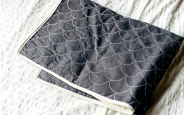 DIY Sashiko Baby Blanket