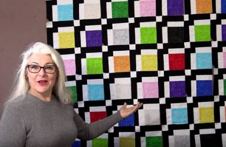 Make a simple quilt block + learn to nest