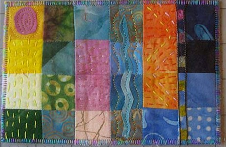 Tutorial: 24-patch quilted postcards