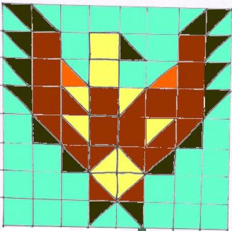 DIY Eagle quilt block