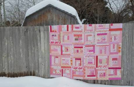 Wonky Log Cabin Quilt Pattern