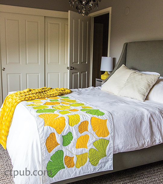 Ginko Bed Runner Pattern Quilting