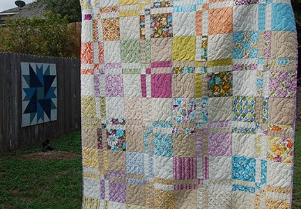 Quilting Tutorial – Disappearing 4 Patch With Layer Cake