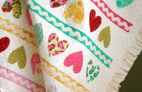 Candy Hearts Quilt Pattern