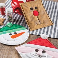 Christmas Character Pot Holders Quilt Pattern
