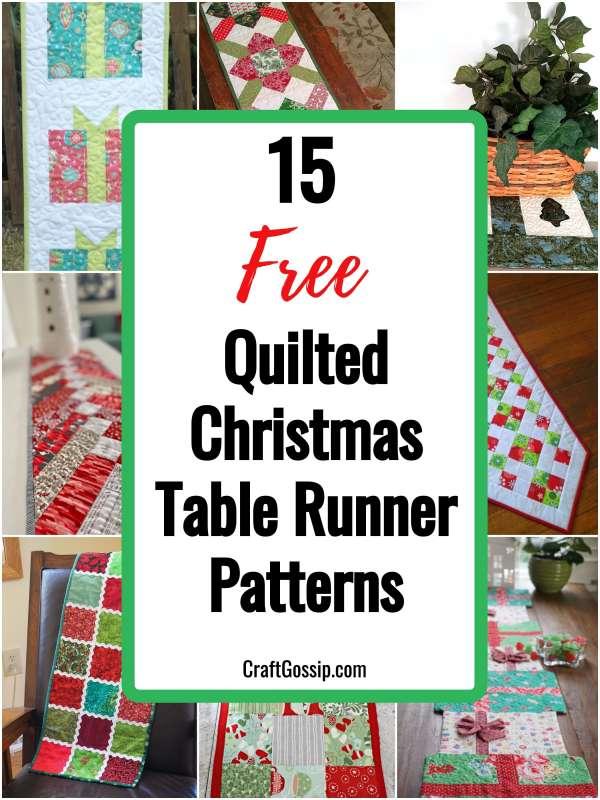 Christmas Tree Table Runner Pattern Free : christmas, table, runner, pattern, 02/04/2021, Quilted, Christmas, Table, Runner, Patterns