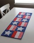 Patriotic Stars Table Runner - Free Pattern