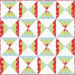 How to Make a Candy Corn Quilt - Free Pattern