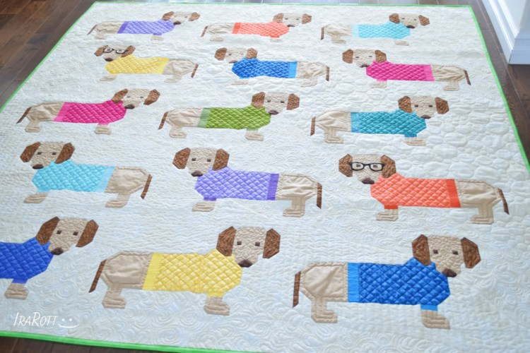 Dogs In Sweaters Quilting - Free Motion Quilting Ideas