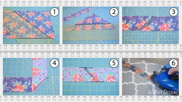 Cutting and Sewing Bias Strips