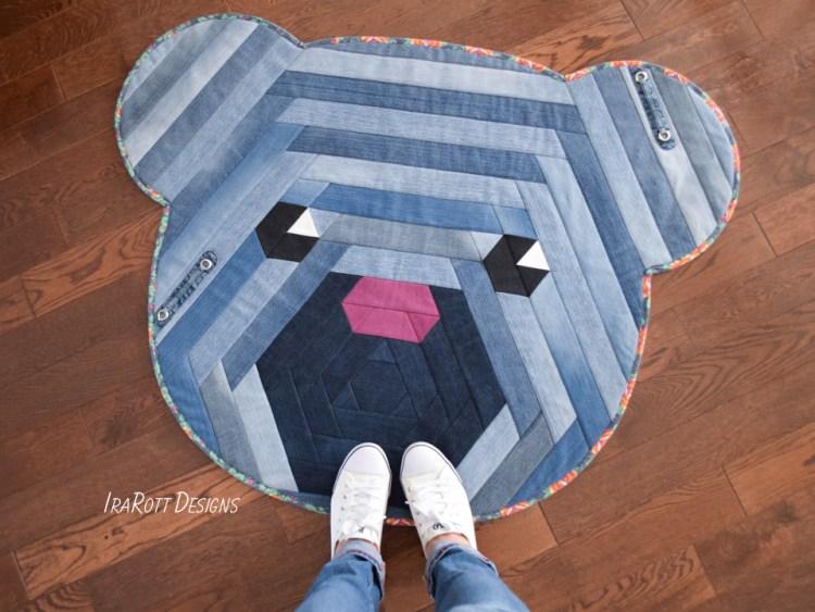 Upcycling Old Jeans Crochet Bear Rug Pattern By IraRott