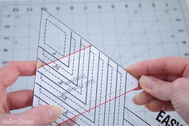 60 Degree Triangle Ruler With Pointy Corners for Cutting Trapezoids