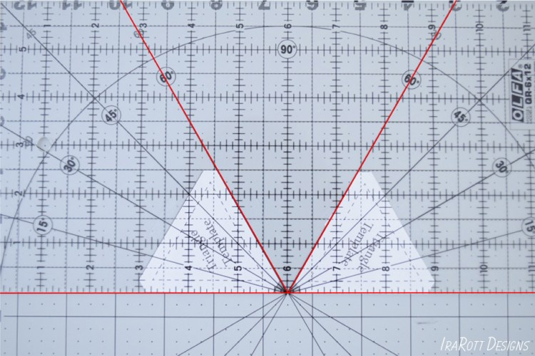 Cutting 60 Degree Triangle With Regular Ruler