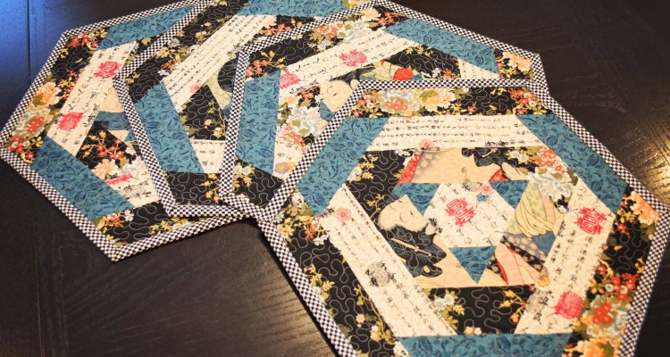 Hexagon Log Cabin Placemats by IraRott