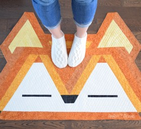 Roxy The Forest Fox Jelly Roll Rug Quilting Pattern By IraRott