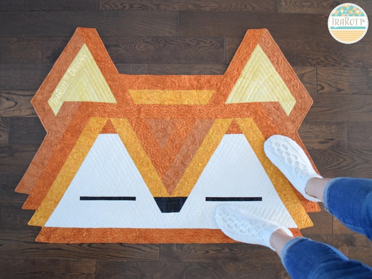 Jelly Roll Fox Rug Quilting Pattern