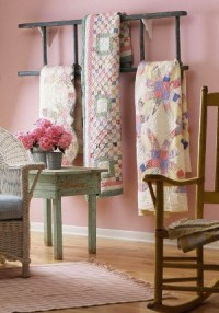 Quilt Rack Especially For Vintage Style Quilts  Quilting ...