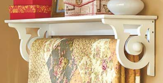 Quilt Rack Especially For Vintage Style Quilts  Quilting