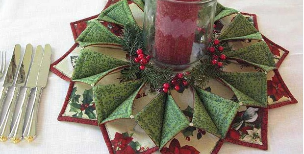 Fold N Stitch Wreath For Your Door Or Table Quilting Digest