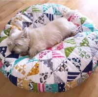 Simple Patchwork Makes a Darling Pet Bed - Quilting Digest