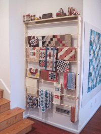 This DIY Wall Rack Takes Up Little Floor Space - Quilting ...
