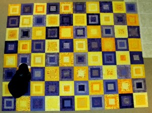 Purple and Yellow - Pieced Top Layout