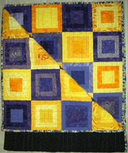Purple and Yellow - Completed Quilt
