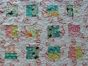 Butterfly Baby Quilt - Quilting Detail