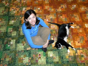 Fall is Coming - Yvonne, Puppy, and the Quilt