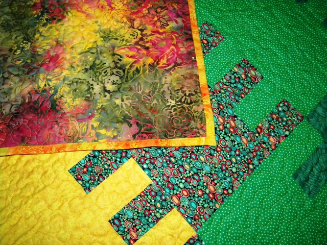 Zipper Quilt - Quilting Detail