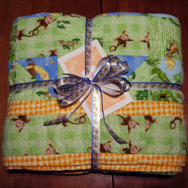 Flannel Baby Quilt - Ready to Gift!